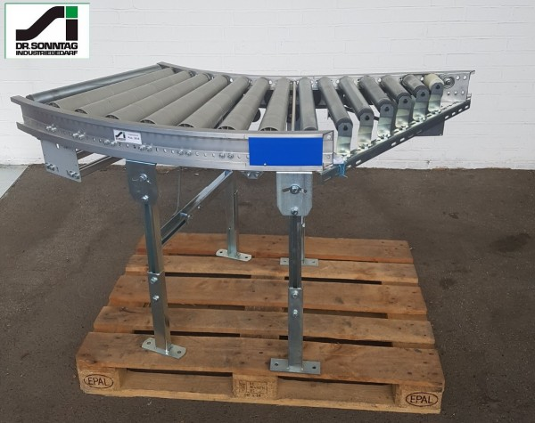 Gebhardt curved roller conveyor 45° with 45° merge 610-550