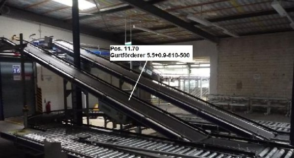 Gebhardt belt conveyor 5549-610-500 + 900-610-500