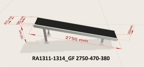Kannegiesser Gurtförderer Schrägförderer Förderband GF 2750-470-380