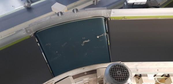 Transnorm Gurtkurvenförderer rechts GKF 30°-750-550 IR900