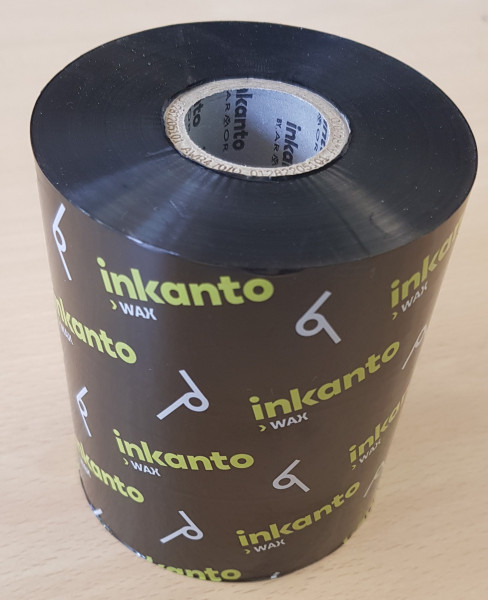 INKANTO Thermotransferband, AWR 470 Wachs, 90 mm x 450 m, Farbe: schwarz