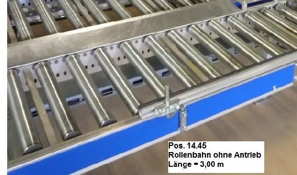 Gebhardt Not driven roller conveyor 3000-610-550