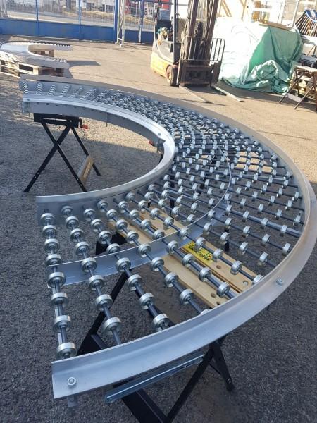Transnorm curved wheel conveyor 180° gravity conveyor 700-600 IR1500