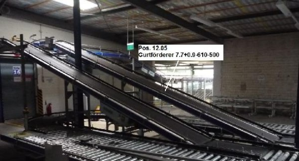 Gebhardt Belt conveyor system conveyor belt 7733-610-500 + 900-610-500