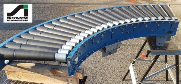 Schulz curved roller conveyor 90° driven roller curve 530-490 IR1200