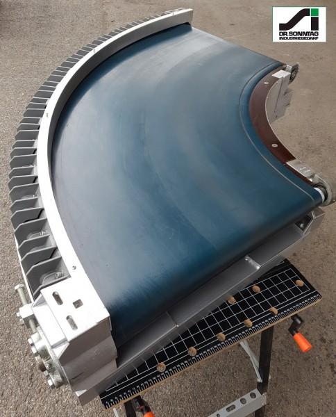 Transnorm curved belt conveyor 90° right bend 600 IR540