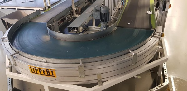 Transnorm belt curve conveyor 180° left GKF 3611-770-550 IR600