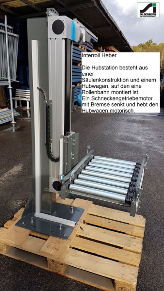 Interroll Hub station lifting column vertical conveyors RM 6006 Hubhöhe 710mm