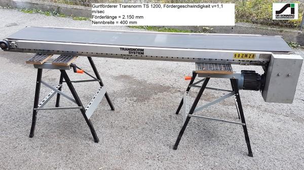 Transnorm Gurtförderer Gurtband Förderband 2150-400-300 TS 1200