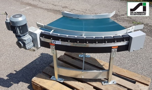Transnorm curved belt conveyor 60° right bend NB500, IR600