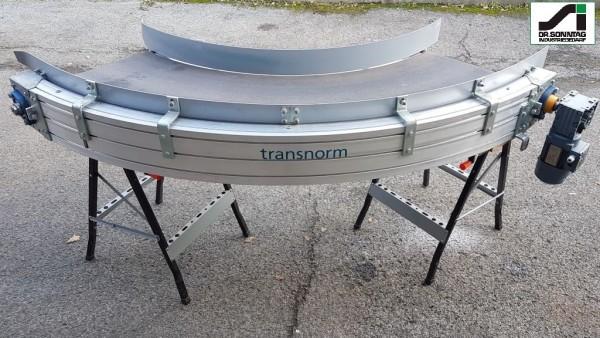 Transnorm curved belt conveyor 90° left bend 500 IR950