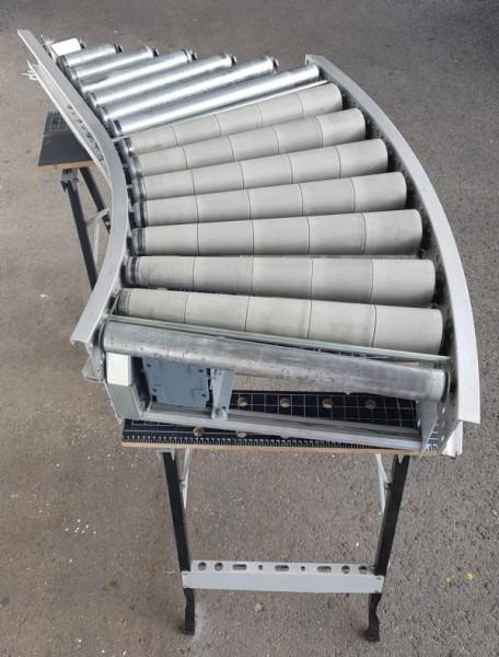 Gebhardt Rollenkurvenförderer 45° + Einschleuseeinheit 610-550 IR800
