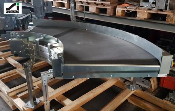 Transnorm curved belt conveyor 90° left bend 800 IR600