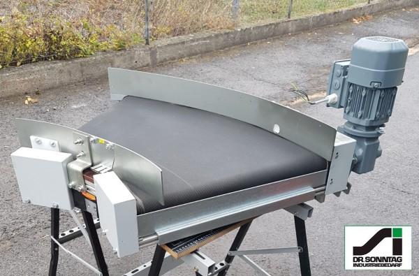 Transnorm curved belt conveyor 45° right bend 750-600 IR600