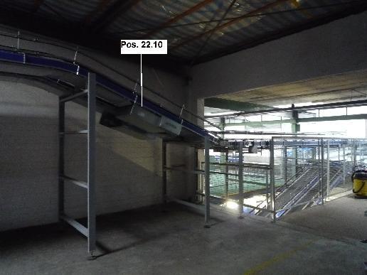 Gebhardt Belt conveyor system conveyor belt 7500-610-500+900-610-500