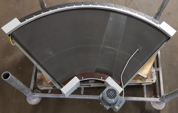 Transnorm curved belt conveyor right 90°-885-700-IR400