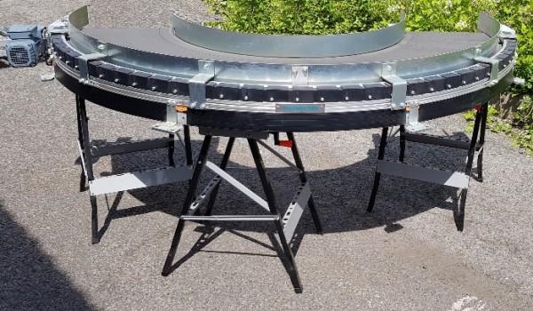 Transnorm Gurtkurvenförderer 500 IR600 Gurtkurve 180° links