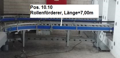 Gebhardt Powered roller conveyors roller conveyor 7000-610-550