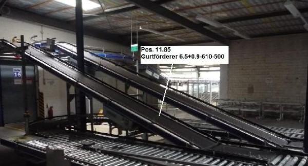 Gebhardt Belt conveyor system conveyor belt 6529-610-500 + 900-610-500
