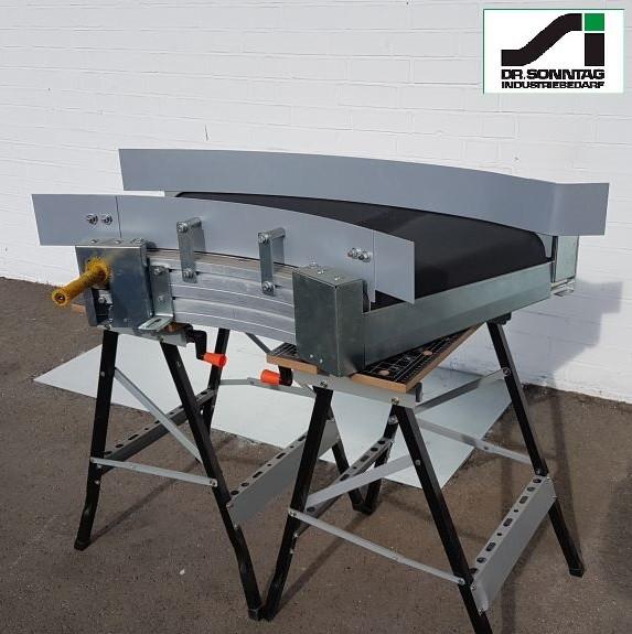 Transnorm curved belt conveyor 45° left bend NB500, IR850
