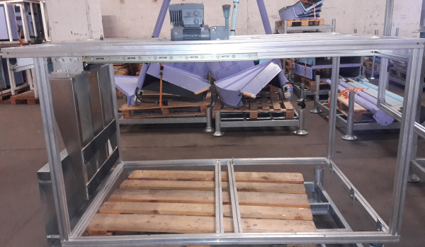 Transnorm electro-mechanical pusher 1000-800 90°