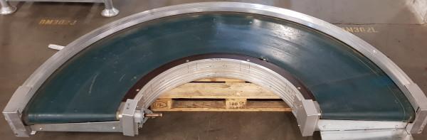 Transnorm belt curve conveyor GKF 3576-750-550 IR600 180° left
