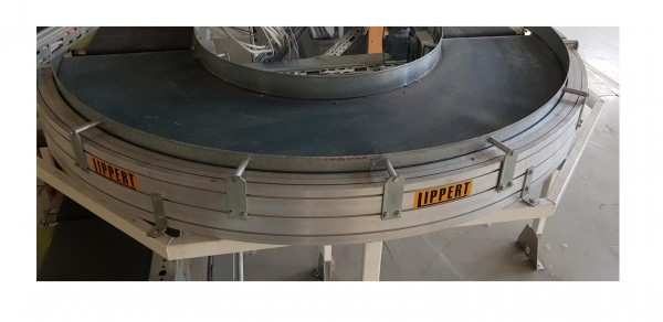 Transnorm Gurtkurvenförderer links GKF 180°-750-550 IR600