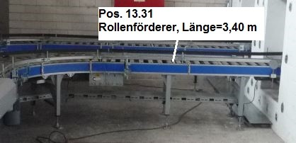 Gebhardt Powered roller conveyors roller conveyor FB 550mm FL 3,40m
