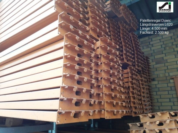 Duwic Shelves for pallets 4200 x 800 x 4500 mm H x T x B