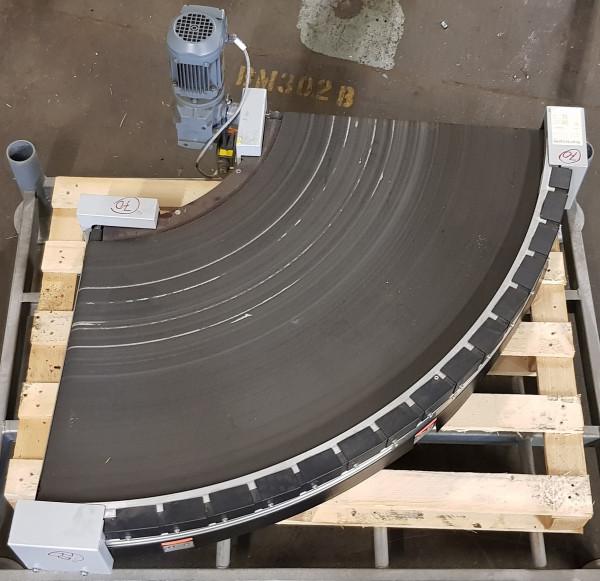 Transnorm curved belt conveyor left 90°-780-600-IR400