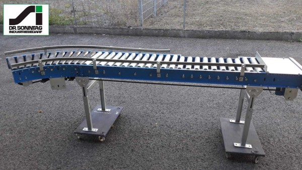 Schulz curved roller conveyor 30° left driven + straight section 450-390 IR795 920-450-390