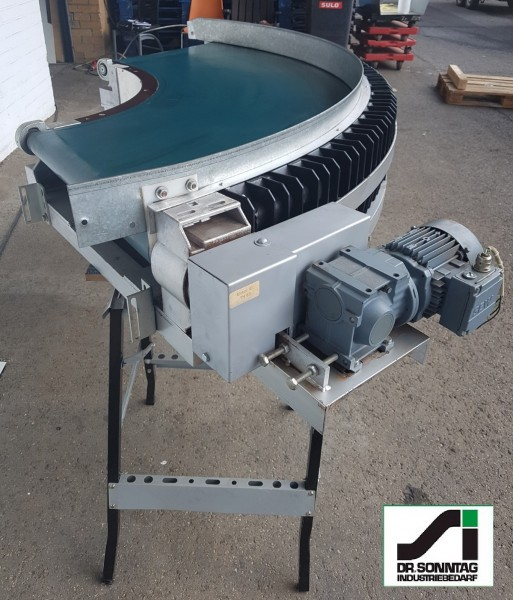 Transnorm curved belt conveyor 109° right bend 670-600 IR600