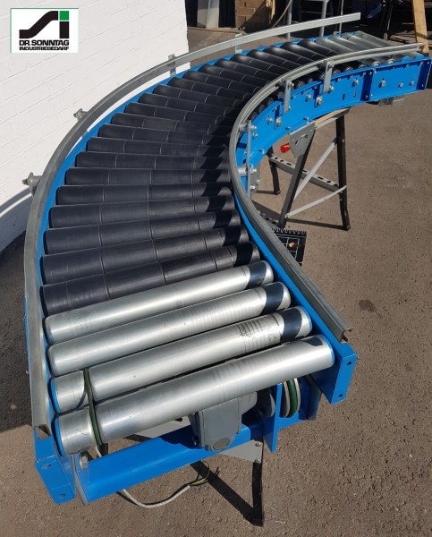driven roller curve 90° right+2 straight sections