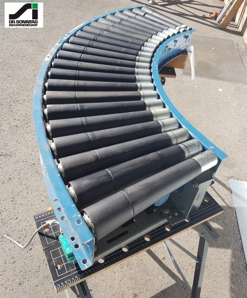 Dematic curved roller conveyor 90° right driven roller curve 500-440 IR765