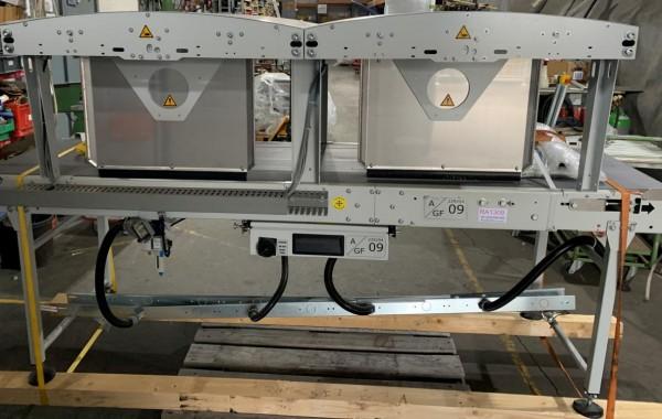 Kannegiesser Gurtförder Gurtband Förderband mit DUO-Pusher GF 2500-680-600