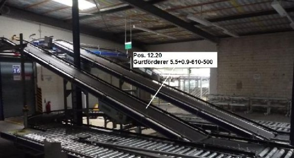 Gebhardt Belt conveyor system conveyor belt 5549-610-500 + 900-610-500