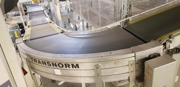 Transnorm belt curve conveyor 85° (spiral) left GKF 1703-775-550 IR600