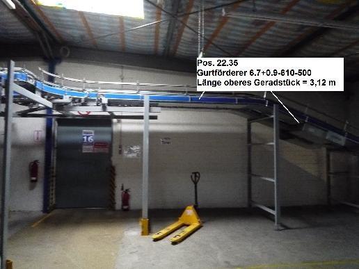 Gebhardt Belt conveyor system conveyor belt 6725-610-500 + 900-610-500