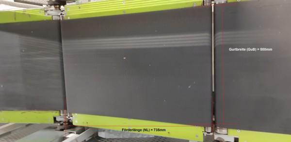 Lippert Gurtförderer Gurtband Förderband GF 735-650-500