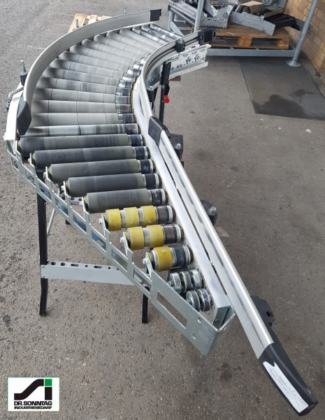 TGW curved roller conveyor 45° driven + insertion unit 480-400-345 IR1050