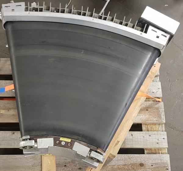 Transnorm curved belt conveyor 40° right bend 750-600 IR600