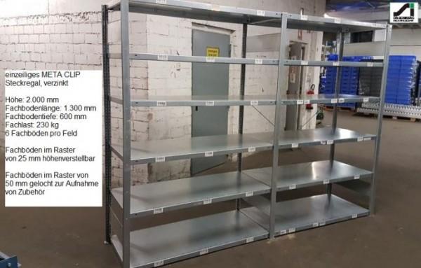 Meta Clip 230 shelving rack 2000 x 1300 x 600 mm