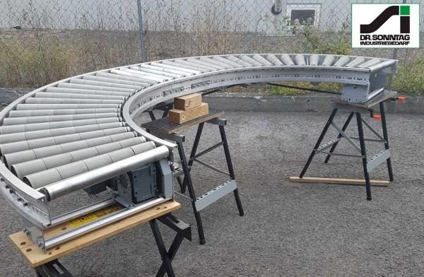Gebhardt Rollenkurvenförderer 2 x 90° links mit Geradstück 610-550-300
